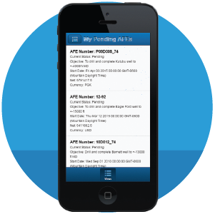Mobile Web App | P2 AFE | Supported on Apple and Android devices | P2 Energy Solutions